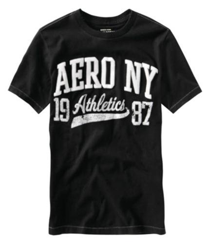 Aeropostale Mens Aero Ny Athletics 87 Graphic T-Shirt black S