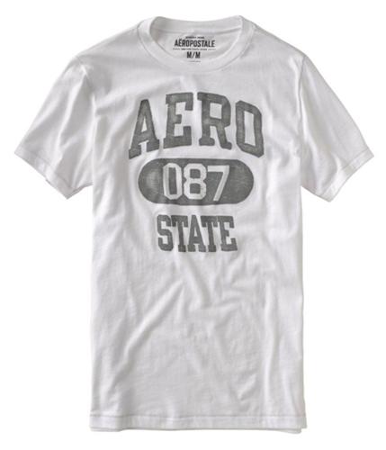 Aeropostale Mens Aero 087 State Graphic T-Shirt bleachwhite S