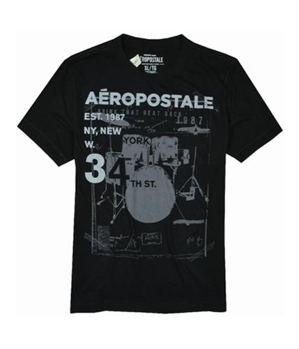Aeropostale Mens Ny City Music Festival Graphic T-Shirt charcoalblack XL