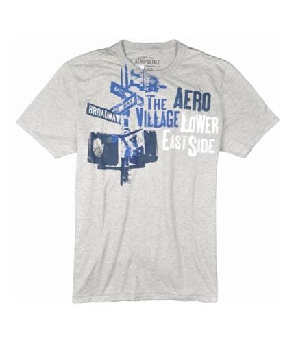 Aeropostale Mens One Way Broadway Graphic T-Shirt lththrgray XS