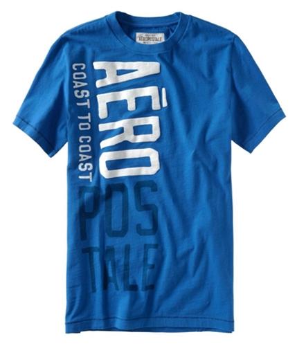 Aeropostale Mens Coast-to-coast Rollout Graphic T-Shirt activeblue XL