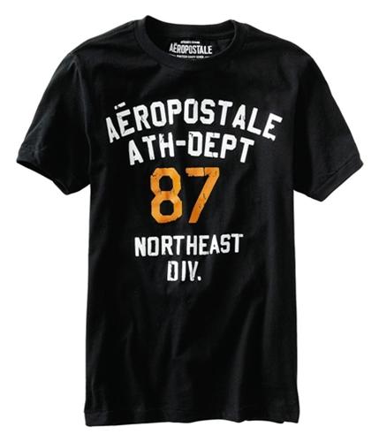 Aeropostale Mens 87 Northeast Div Graphic T-Shirt black XS