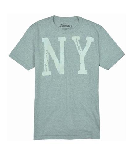 Aeropostale Mens Ny Graphic T-Shirt ltheathergray S