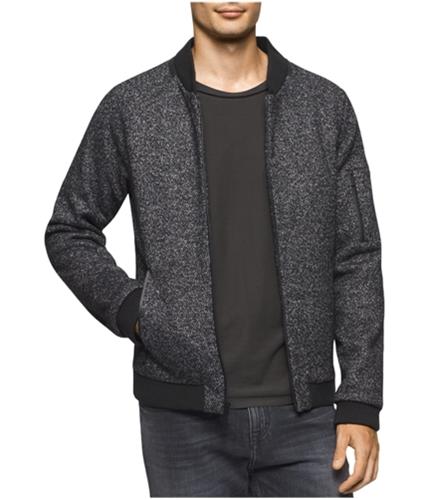 Calvin Klein Mens Multi-tone Bomber Jacket blackheather L