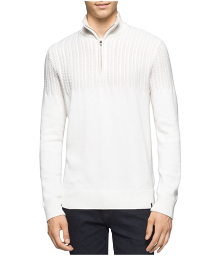 Calvin Klein Mens Multi-Textured Knit Sweater black S