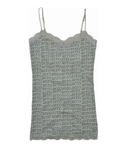 Aeropostale Womens Lace Cami Tank Top lththrgray XS