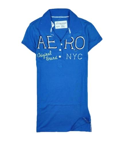 Aeropostale Womens Aero Ny Polo Shirt seablue XS