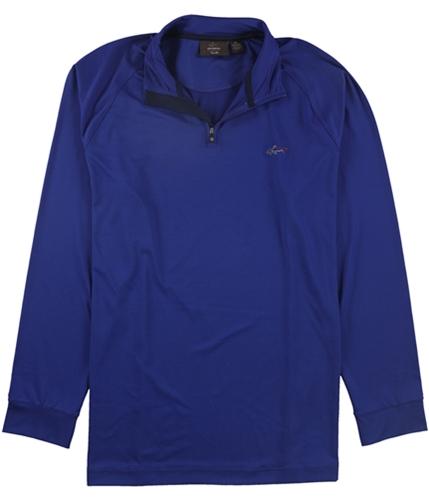 Tasso Elba Mens Ls Qrtr Zip Raglan Track Jacket Sweatshirt boccablue XL