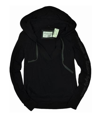 Aeropostale Womens Pullover Hoodie Sweatshirt black S
