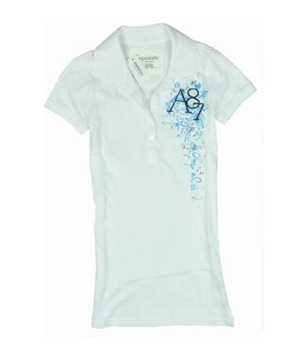 Aeropostale Womens A87 Sequence Polo Shirt bleachwhite XS