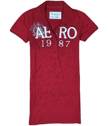 Aeropostale Womens Aero 1987 Polo Shirt cherryred XS