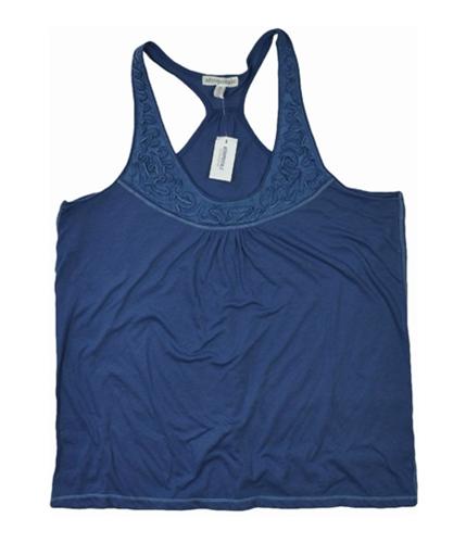 Aeropostale Womens Embroidered Sleeveless Tank Top steelblue XL