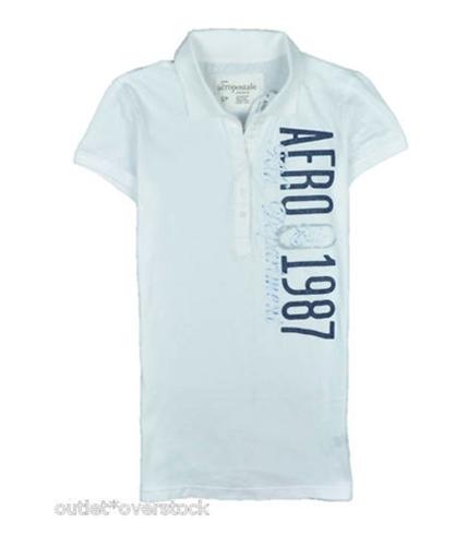 Aeropostale Womens Aero 1987 Polo Shirt bleachwhite S
