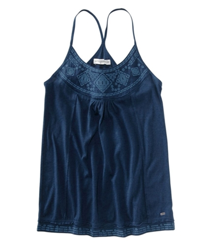Aeropostale Womens Loose Fit Embellished Tank Top navyblue XS