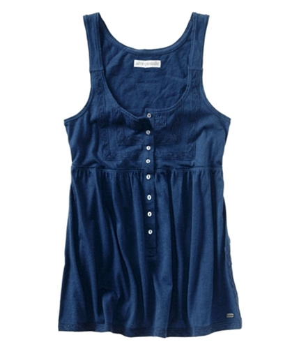 Aeropostale Womens Lace Baby Doll Cami Tank Top navyblue XS