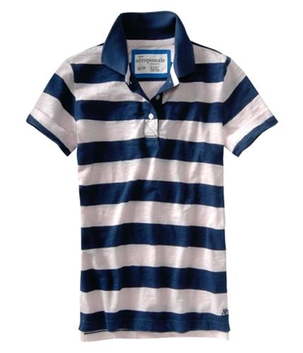 Aeropostale Womens Aerotripe A87 Polo Shirt navyblue XS