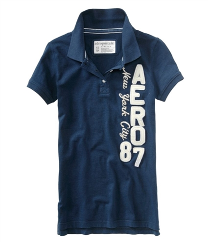 Aeropostale Womens Aero 87 Polo Shirt navyblue XS