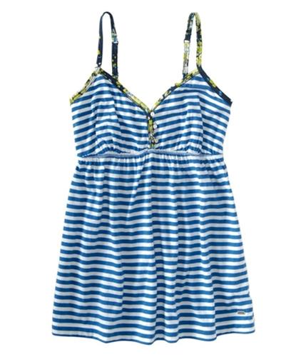 Aeropostale Womens Stripe Baby Doll Cami Tank Top brtmediumblue XS