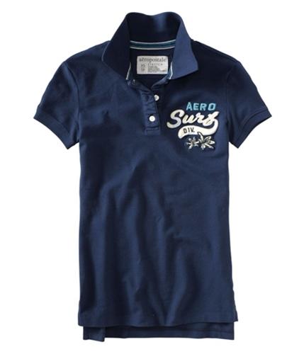 Aeropostale Womens Aero Surf Div Polo Shirt navyblue XS