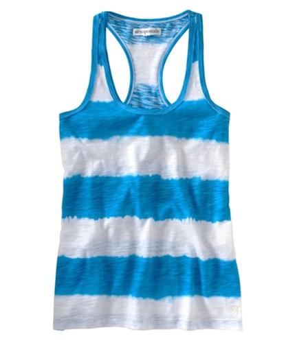 Aeropostale Womens Tie Dye Stiped Tank Top bluedu XL