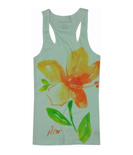 Aeropostale Womens Floral Fitted Tank Top bleachwhite XL