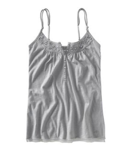 Aeropostale Womens Jeweled Babydoll Henley Blouse patina XL
