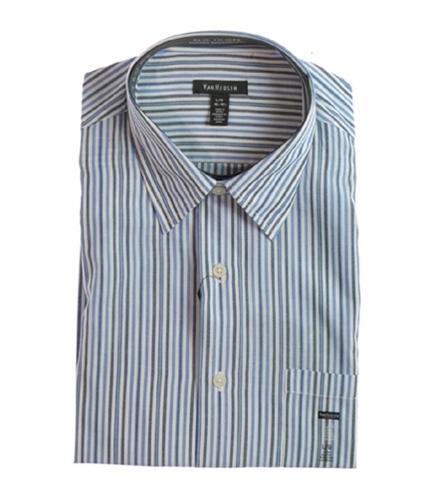 Van Heusen Mens Cvc Bc Fcy Button Up Shirt bluyonder S
