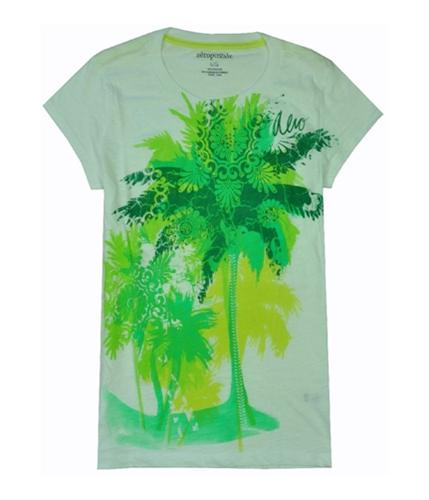 Aeropostale Womens Rhinestone Basic T-Shirt bleachwhite L