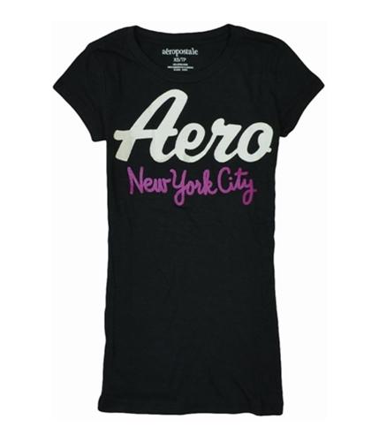Aeropostale Womens New York City Graphic T-Shirt black XS
