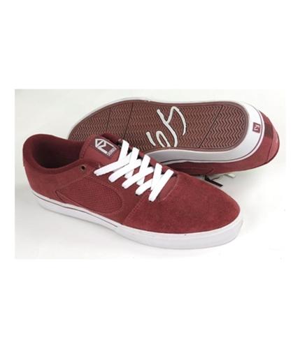es Mens Square Skate Sneakers maroonburgundy 11.5
