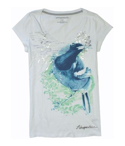 Aeropostale Womens Animal V-neck Graphic T-Shirt blcblue L