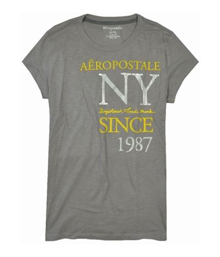 Aeropostale Womens Ny Since 1987 Graphic T-Shirt lightgray XL