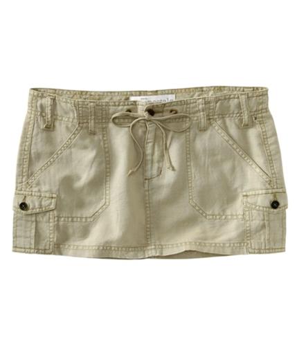 Aeropostale Womens Linen Mini Skirt oatbra XS