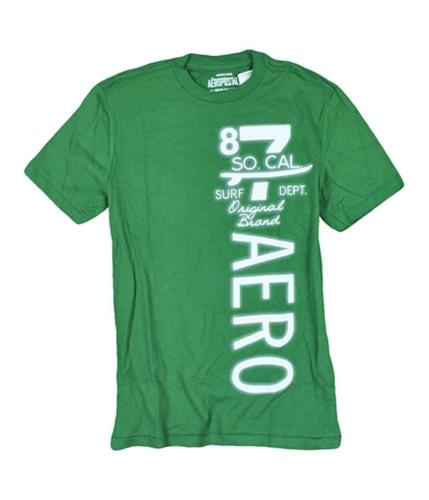 Aeropostale Mens So Cal Graphic T-Shirt oreganogreen S