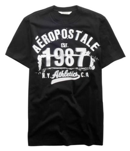 Aeropostale Mens Est 1987 Graphic T-Shirt black S