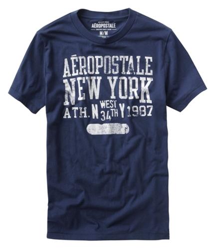 Aeropostale Mens New York Graphic T-Shirt navyblue XS