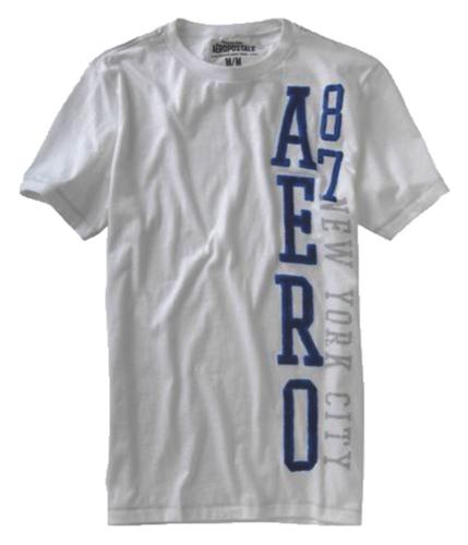Aeropostale Mens Aero 87 Graphic T-Shirt softsandoffwhite L
