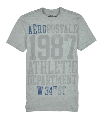 Aeropostale Mens 1987 W. 34th Athletic Dept Graphic T-Shirt lththrgray XS