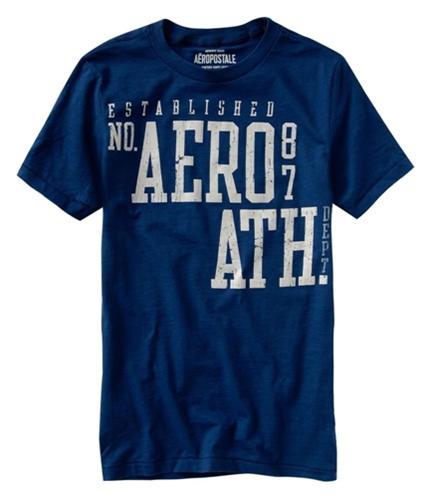 Aeropostale Mens Aero 87 Athletic Crew Graphic T-Shirt indigoblue XS