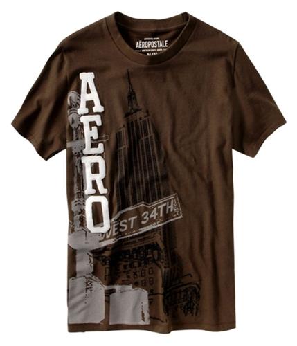 Aeropostale Mens New York Graphic T-Shirt harvestbrown M