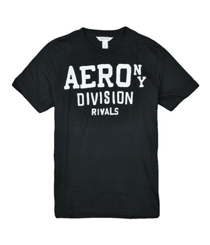 Aeropostale Mens Aero Division Rivals Graphic T-Shirt black XS