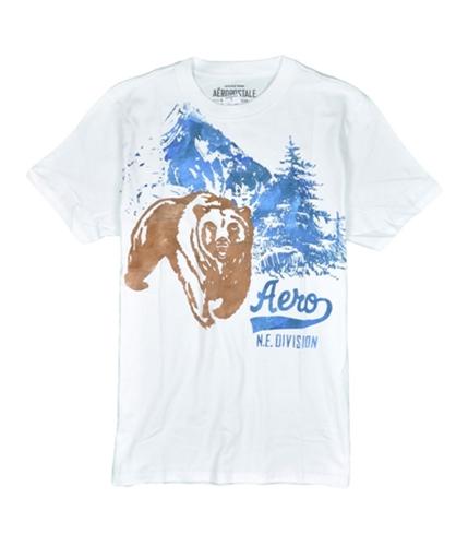 Aeropostale Mens Animal Graphic T-Shirt whiteharvest S