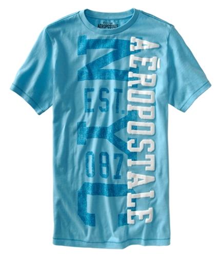 Aeropostale Mens Nyc 087 Graphic T-Shirt aqua XS