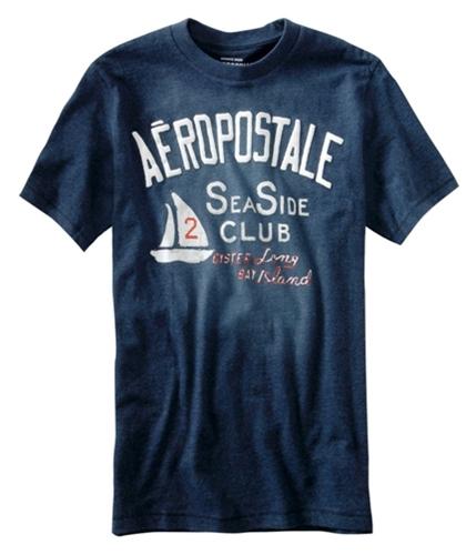 Aeropostale Mens Aero Greenport Rowing Club Graphic T-Shirt navyblue XS
