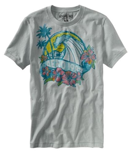 Aeropostale Mens Watercolor Graphic T-Shirt patinagray XS