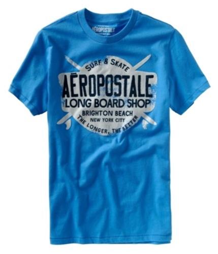 Aeropostale Mens Rollout Graphic T-Shirt heavenlyblue S