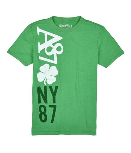 Aeropostale Mens A87 Four Leaf Clover Graphic T-Shirt landscapegreen XS