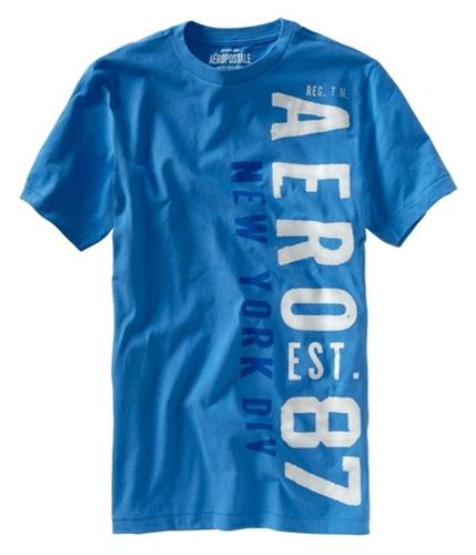 Aeropostale Mens Aero Est 87 New York Div Graphic T-Shirt heavenlyblue S
