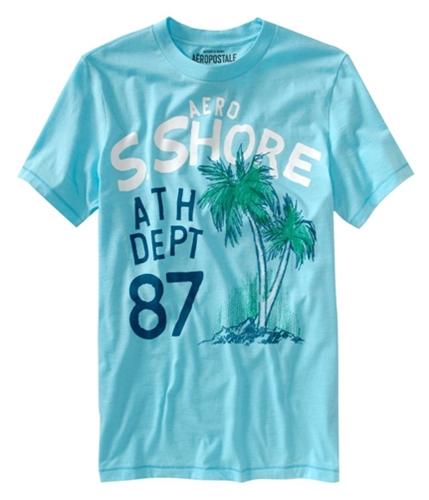 Aeropostale Mens Wave Patrol Graphic T-Shirt barelyblueaqua XL
