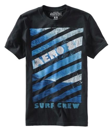 Aeropostale Mens Surf Crew Graphic T-Shirt black XS